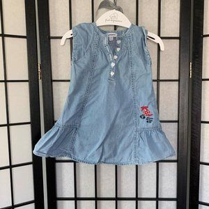 3Pommes Ruffle Jean Dress 9-12 months